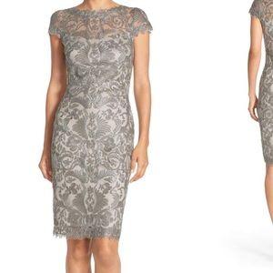 e59e8782 Tadashi Shoji Dresses - Tadashi shoji illusion yoke lace sheath dress